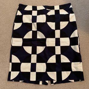 J. Crew Color-Block Pencil Skirt